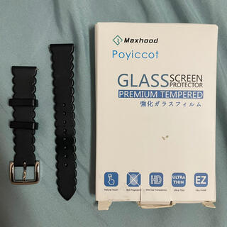 ケイトスペードニューヨーク(kate spade new york)のkate spadeのスマートウォッチ用シリコンバンド&文字盤保護ガラス(腕時計)