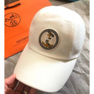 エルメス(Hermes)の新品未使用 ,エルメス今期 帽子キャップ 白60(キャップ)