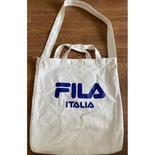 フィラ(FILA)のFILA トートバッグ エコバッグ 白 (トートバッグ)