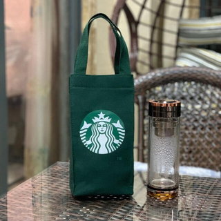スターバックスコーヒー(Starbucks Coffee)のスタバ スターバックス トート バッグ 緑の 限定 ドリンクホルダー タンブラー(トートバッグ)