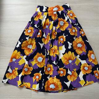 プールスタジオ(pool studio)の花柄スカート(ひざ丈スカート)