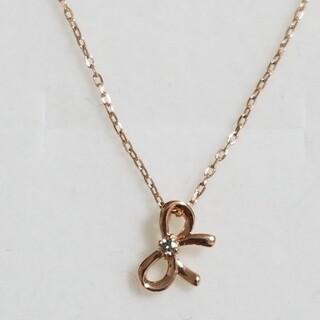 【フェスタリア】K10PG ダイヤモンドネックレス(ネックレス)