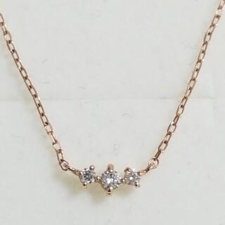 【レモンツリー】K10PG ダイヤモンドラインネックレス(ネックレス)
