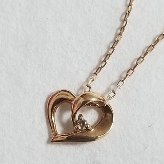 K10PG ダイヤモンドネックレス(ネックレス)