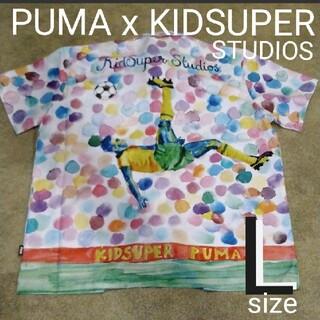 プーマ(PUMA)の新品❤Lサイズ 未使用 PUMA x KIDSUPER STUDIOS シャツ (シャツ)
