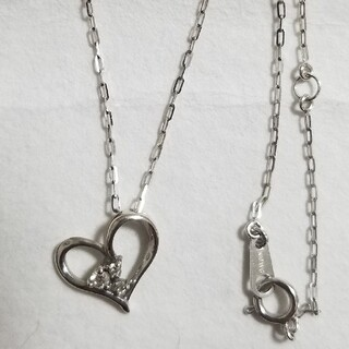 K10WG ダイヤモンドネックレス(ネックレス)