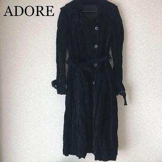ADORE - ADORE アドーア トレンチコート ロングコート スプリングコート 黒 38