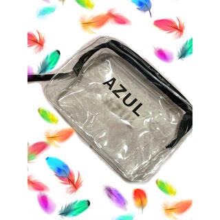 アズールバイマウジー(AZUL by moussy)のAZUL by moussy 新品 クリアロゴポーチ 旅行 お泊り メイクポーチ(ポーチ)
