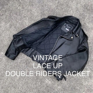 schott - VINTAGE LACE UP DOUBLE RIDERS JACKET セール