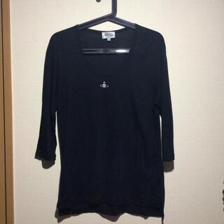 ヴィヴィアンウエストウッド(Vivienne Westwood)のVivienne Westwood man 7分袖 カットソー ブラック(Tシャツ/カットソー(七分/長袖))