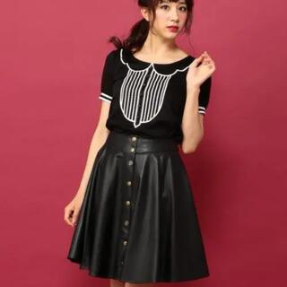 ドーリーガールバイアナスイ(DOLLY GIRL BY ANNA SUI)の♡最終お値下げ♡ ドーリーガールバイアナスイ メタルレザースカート(ひざ丈スカート)