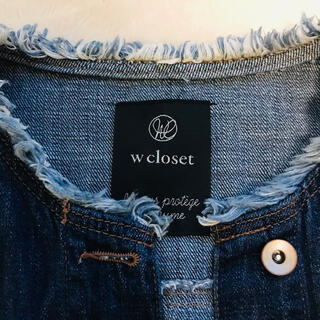 ダブルクローゼット(w closet)の春 wcloset ダブルクローゼット デニムジャケット Gジャン(Gジャン/デニムジャケット)