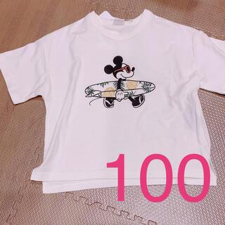 フタフタ(futafuta)のバースデイ フタフタ  サーフィン ミッキー  Tシャツ 100(Tシャツ/カットソー)