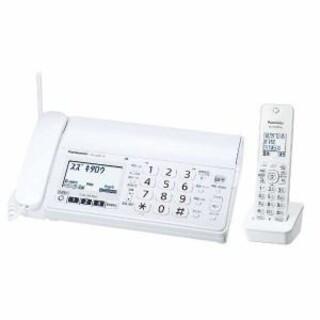 パナソニック(Panasonic)の美品パナソニック FAX 電話機 KX-PZ200W(電話台/ファックス台)