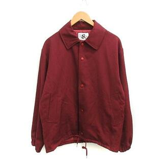 アレッジ(ALLEGE)のアレッジ ALLEGE ジャケット ステンカラー ウール 1 S 赤 ワインレッ(ブルゾン)