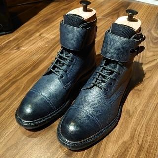 エドワードグリーン(EDWARD GREEN)のエドワードグリーン ブーツ ユタカーフ ネイビー UK5.5(ブーツ)