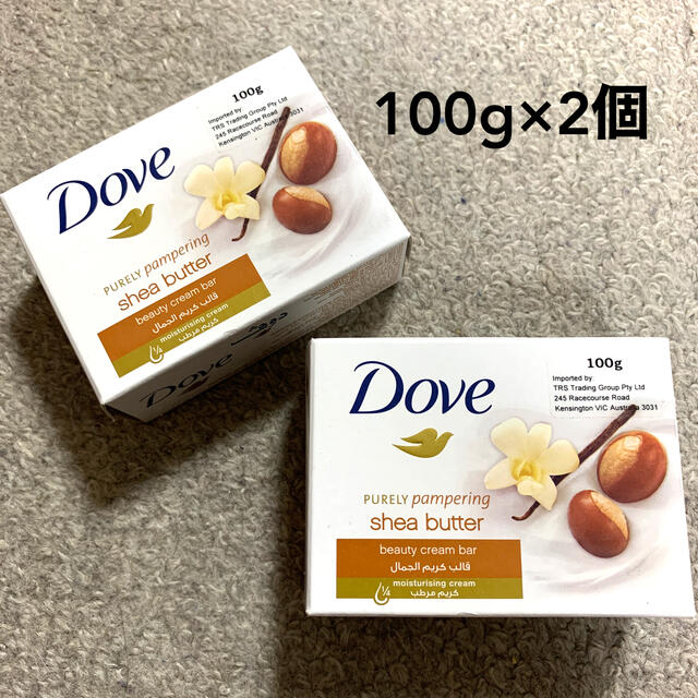 Unilever(ユニリーバ)の2個セット DOVE ダヴ シアバター 100g×2個 石鹸 ソープ 石けん コスメ/美容のボディケア(ボディソープ/石鹸)の商品写真