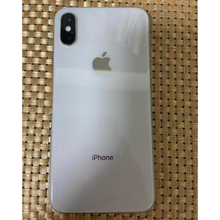 アイフォーン(iPhone)のiPhone Xs Silver 64Gb Simフリーバッテリー96%(携帯電話本体)