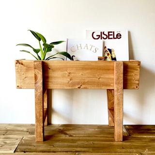 プランター ラック おしゃれ 木製 フラワーラック 花台 本棚 飾り台 植物 茶(プランター)