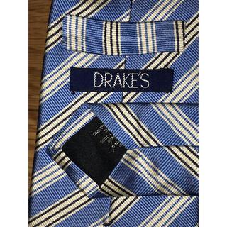 ドレイクス(DRAKES)のドレイクス DRAKE'S ネクタイ ブルー ×シルバー ストライプ(ネクタイ)
