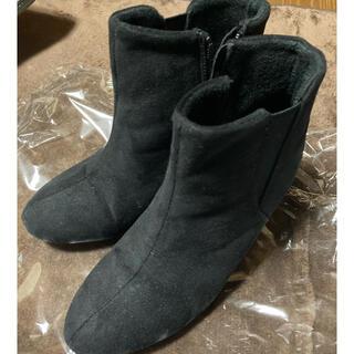 シマムラ(しまむら)の防水仕様 ショートブーツ ブラック(ブーツ)