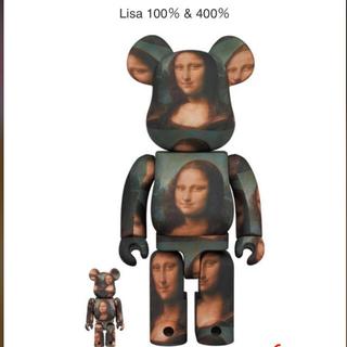メディコムトイ(MEDICOM TOY)のBE@RBRICK  Mona Lisa 100% & 400% 2セット(キャラクターグッズ)