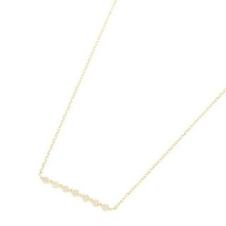 ココシュニック(COCOSHNIK)のココシュニック K18ダイヤモンド 伏せ込み7石横バー ネックレス(ネックレス)