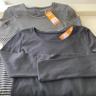 シマムラ(しまむら)の婦人裏起毛長袖インナーシャツ 2枚セット Mサイズ 新品(アンダーシャツ/防寒インナー)