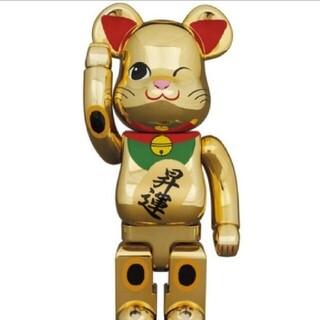BE@RBRICK 招き猫 昇運 弐 金メッキ 400%ベアブリック 招き猫(フィギュア)