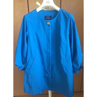 アフタヌーンティー(AfternoonTea)のcachette ブルーのデザイン春コート美品 私の部屋(スプリングコート)