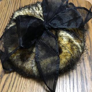 オーバーライド(override)のoverride  カオリノモリ チュール ベレー帽 リボン(ハンチング/ベレー帽)