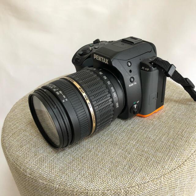 PENTAX(ペンタックス)のPENTAX K−S2 K-S2 BLACK/ORANGE スマホ/家電/カメラのカメラ(デジタル一眼)の商品写真