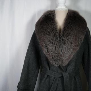 オーセンティックシューアンドコー(AUTHENTIC SHOE&Co.)のオーセンティック ロングコートカシミア ファーコート(毛皮/ファーコート)