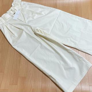 エニィスィス(anySiS)の新品 anysis エニィスィス パンツ 2 ガウチョ ホワイト(カジュアルパンツ)