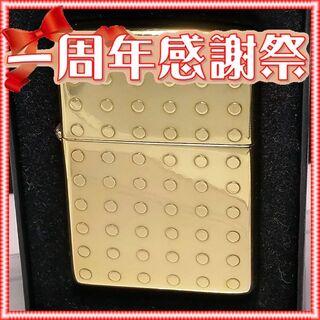 ジッポー(ZIPPO)の№313 ZIPPO ドット 真鍮無垢 ジッポー 2003年10月 【J 03】(タバコグッズ)