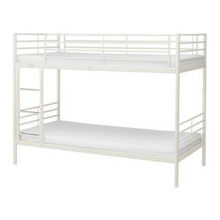 イケア(IKEA)の■引取限定■ IKEA 2段ベッド SVÄRTA スヴェルタ ホワイト (ロフトベッド/システムベッド)
