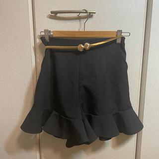 ナイスクラップ(NICE CLAUP)のNICE CLAUP ハーフパンツ 黒(ショートパンツ)
