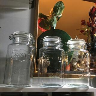 アクタス(ACTUS)のガラスジャーポット 3つセット 保存瓶 瓶樽 ガラスキャニスター 果実酒(容器)