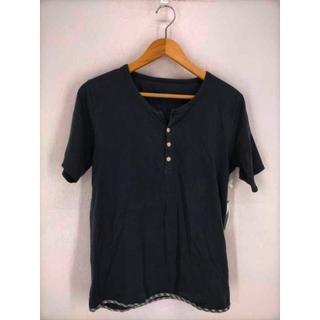 ヴィスヴィム(VISVIM)のVISVIM(ビズビム) チェック切替ヘンリーネックTシャツ メンズ トップス(Tシャツ/カットソー(半袖/袖なし))