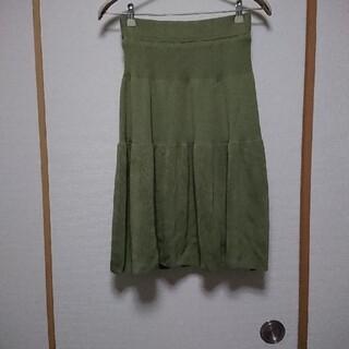 アンティカ(antiqua)のアンティカミモレ丈  スカート(ひざ丈スカート)