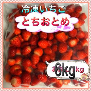 冷凍とちおとめ 砂糖無し 6kg 九州行き(フルーツ)