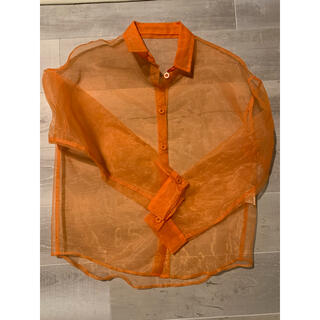 マルタンマルジェラ(Maison Martin Margiela)の最終値下げAKTEオーガンジーシャツ(シャツ/ブラウス(長袖/七分))