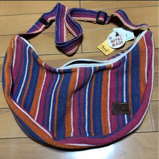 チャイハネ(チャイハネ)のアミナ  ネパール製  コットンショルダーバッグ(ショルダーバッグ)