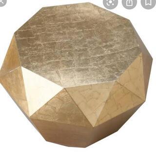 フランフラン(Francfranc)のFrancfranc ダイヤモンドテーブル ゴールド(ローテーブル)