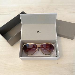 クリスチャンディオール(Christian Dior)のディオール dior サングラス ピンク シェル ティアドロップ(サングラス/メガネ)