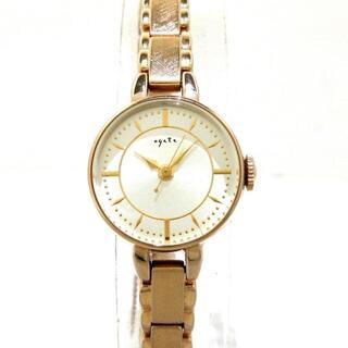アガット(agete)のアガット 腕時計美品  - 1706 レディース(腕時計)