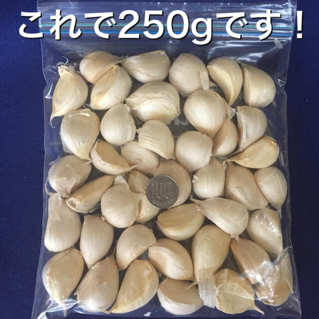 青森県 にんにく 福地ホワイト六片種 250g 食品/飲料/酒の食品(野菜)の商品写真
