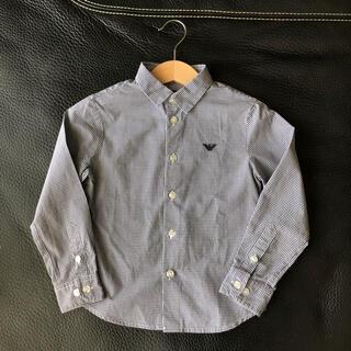 エンポリオアルマーニ(Emporio Armani)のエンポリオアルマーニ キッズ チェックシャツ(Tシャツ/カットソー)