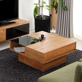センターテーブル ローテーブル リビングテーブル 国産 日本製 ライトブラウン(ローテーブル)