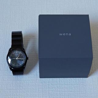 ソニー(SONY)のwena wrist pro WB-11A/B + WH-TS01/B(腕時計(アナログ))